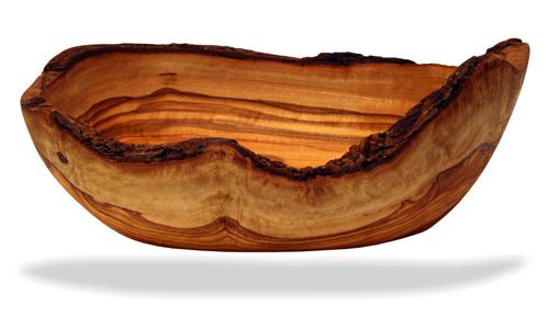 Olive Wood Rustic Bread Fruit Basket Bowl Old Shape18cm Ebay